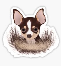 cartoon chihuahua drawing stickers redbubble