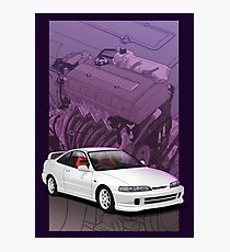 Integra dc2 with b series background  Photographic Print