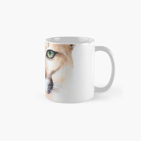 Mountain Lion Watercolor Classic Mug
