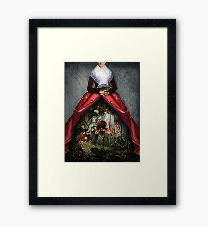 Her garden Framed Print