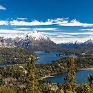 Lake Nahuel Huapi and mountains (Patagonia - Argentina) by Mathieu Longvert