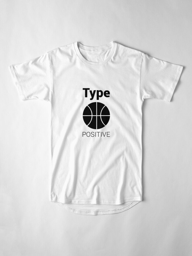 Alternate view of Basketball is in the blood T-shirt Long T-Shirt