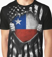Chilean American Flag USA Chile Graphic T-Shirt