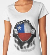 Chilean American Flag USA Chile Women's Premium T-Shirt