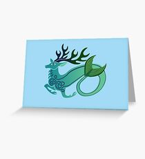 sea-stag  Greeting Card