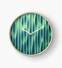 Turquoise Waves Clock