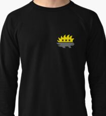Ancap AnarchoCapitalist Porcupine black and yellow HD HIGH QUALITY black background Lightweight Sweatshirt