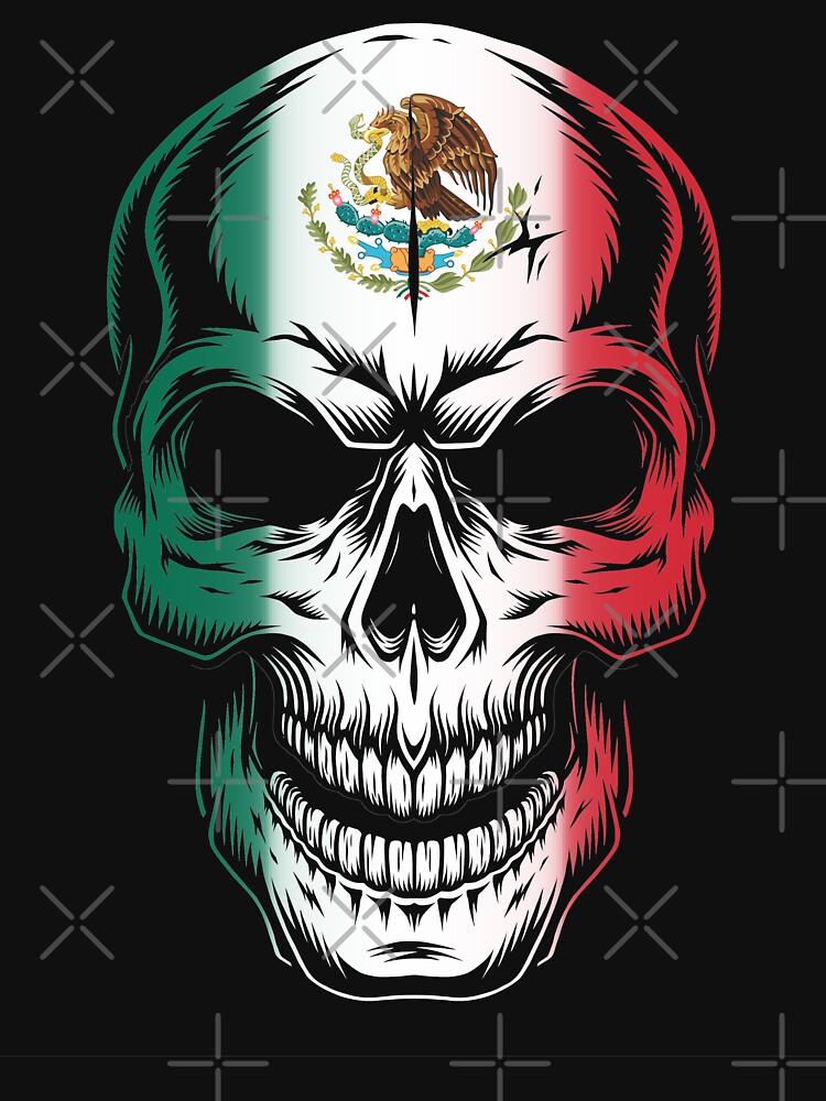 mexico flag skull unisex t shirt by goodspy redbubble