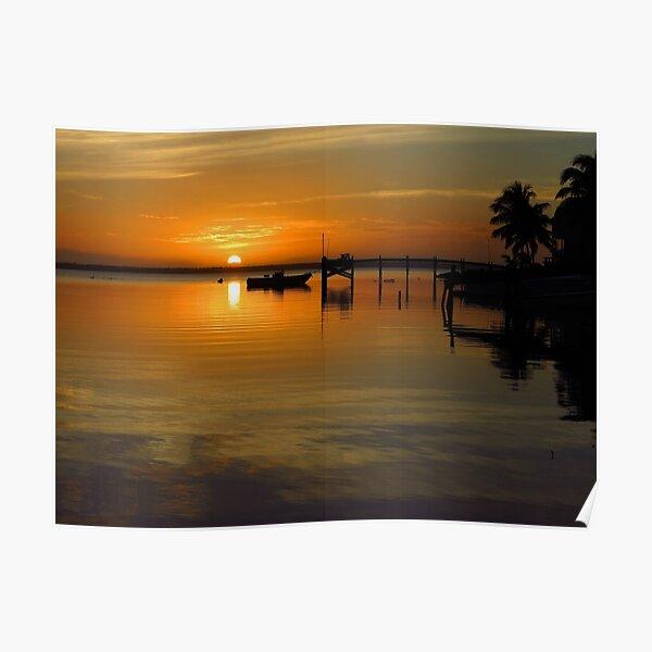 South Beach Sunset  Poster