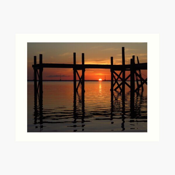 Other Shore Dock at Sunset  Art Print