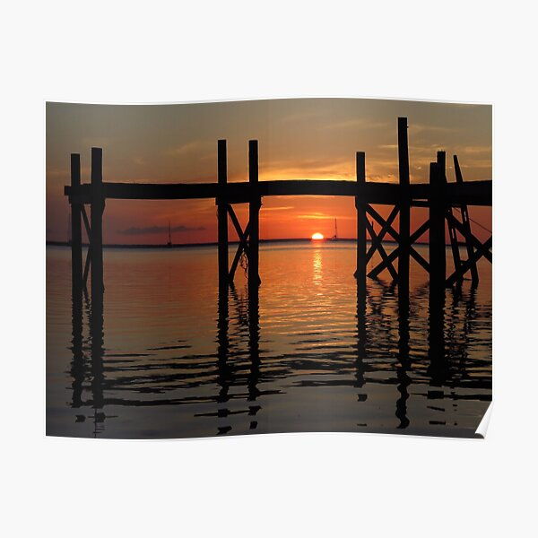 Other Shore Dock at Sunset  Poster