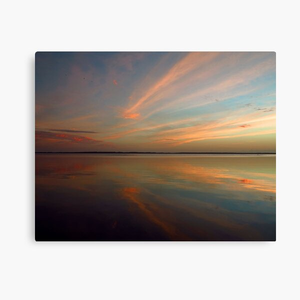 Swirly Pink Sunset Canvas Print