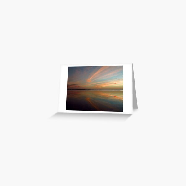 Swirly Pink Sunset Greeting Card