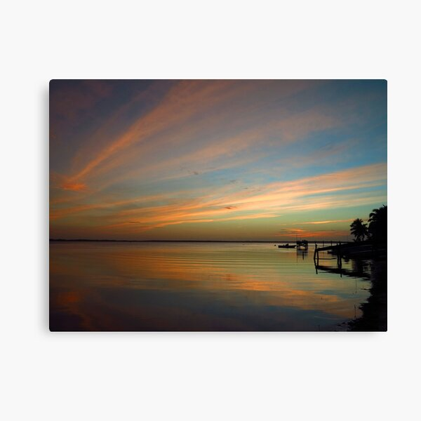 Swirly Pink Sunset (2) Canvas Print