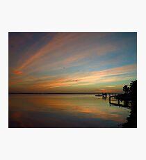 Swirly Pink Sunset (2) Photographic Print