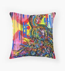 The Peacock Merchandise by Dusty O  Throw Pillow