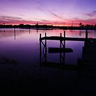 Purple Sunset Dock  by Amanda Diedrick