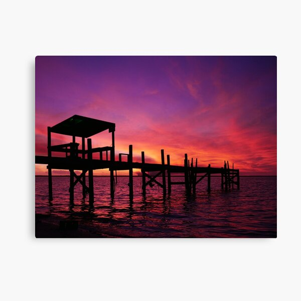 Purple Fire Sunset Canvas Print