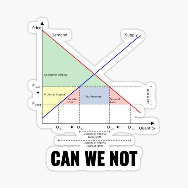 "Tariffs ""Can We Not"" Trump Design Sticker"