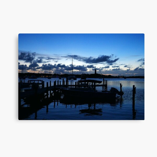 Hope Town Harbour at Dusk  Canvas Print