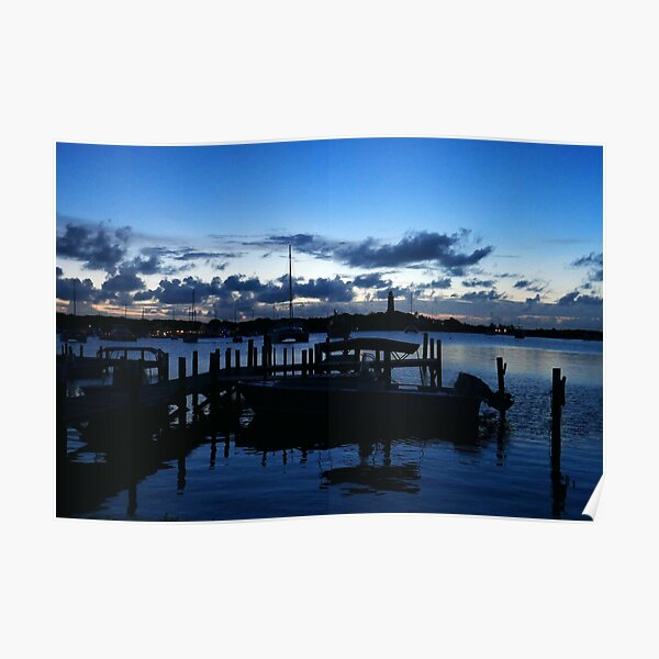 Hope Town Harbour at Dusk  Poster
