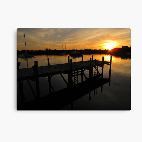 Black Sound Sunrise  Canvas Print