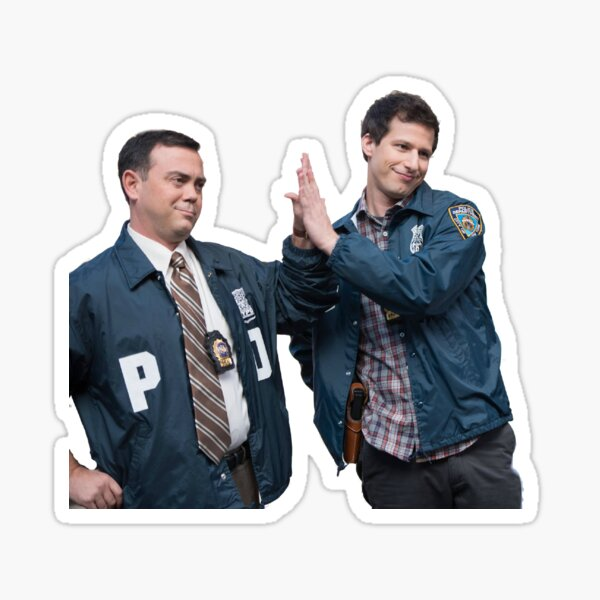 b99: jake & charles Sticker