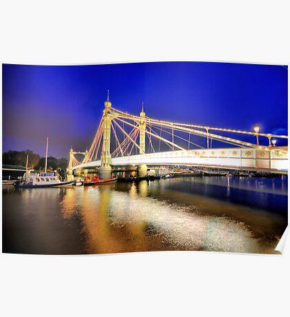 Albert Bridge - London Poster