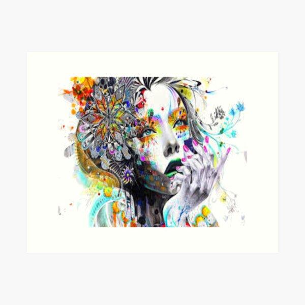 Psychedelic Woman Art Print