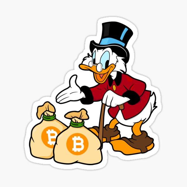 Bitcoin Hodl Scrooge McDuck Sticker