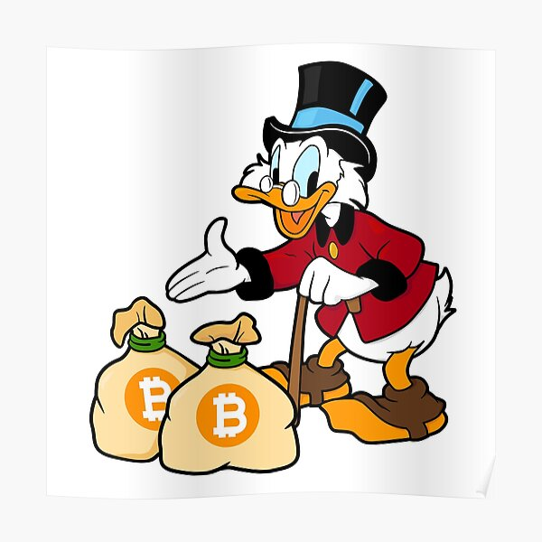 Bitcoin Hodl Scrooge McDuck Poster