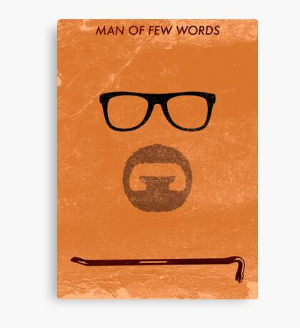 Man of few words. Canvas Print