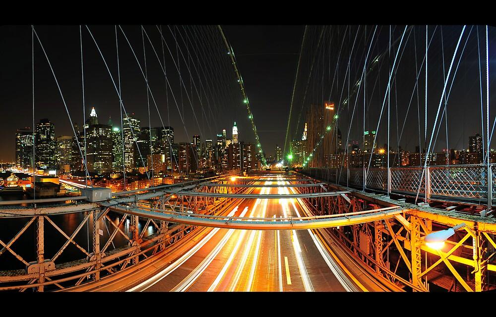 Brooklyn Bridge Fisheye by Dominic Kamp