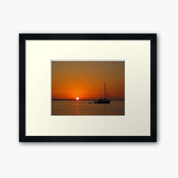 Sailboat at Sunset Framed Art Print