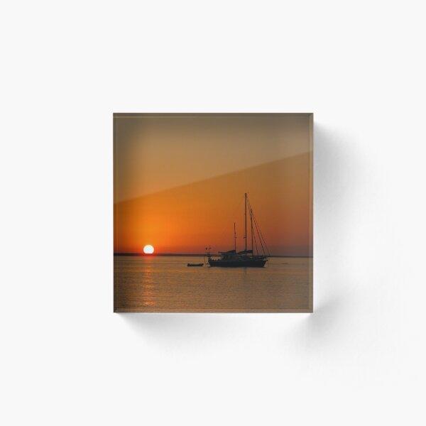 Sailboat at Sunset Acrylic Block