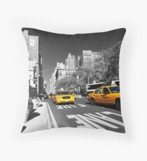 New York Taxi 2 Throw Pillow