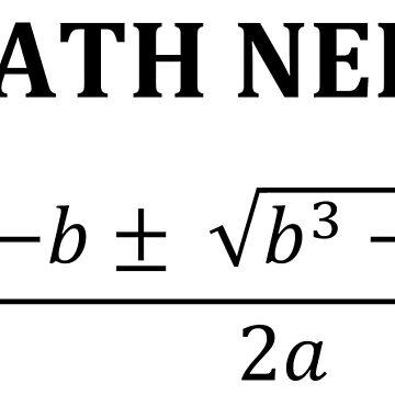 Incorrect Quadratic Equation to Annoy Math Nerds by arthurs-stuff
