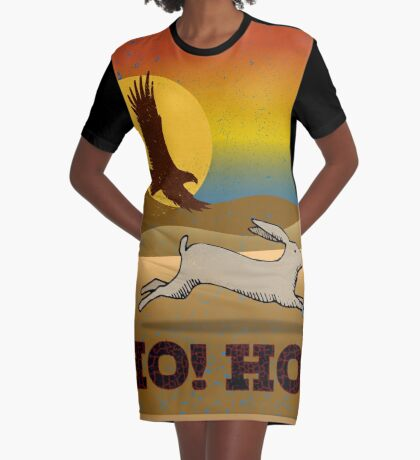 The Art of Falconry: The Long Slip Graphic T-Shirt Dress