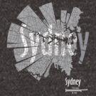 Sydney Map von UrbanizedShirts