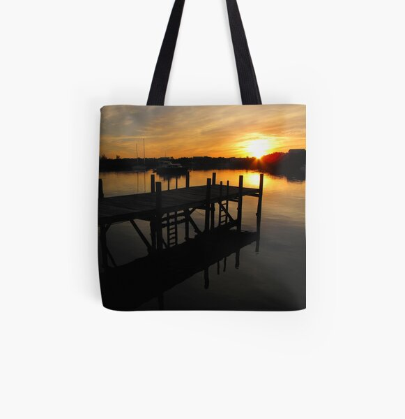 Black Sound Sunrise  All Over Print Tote Bag