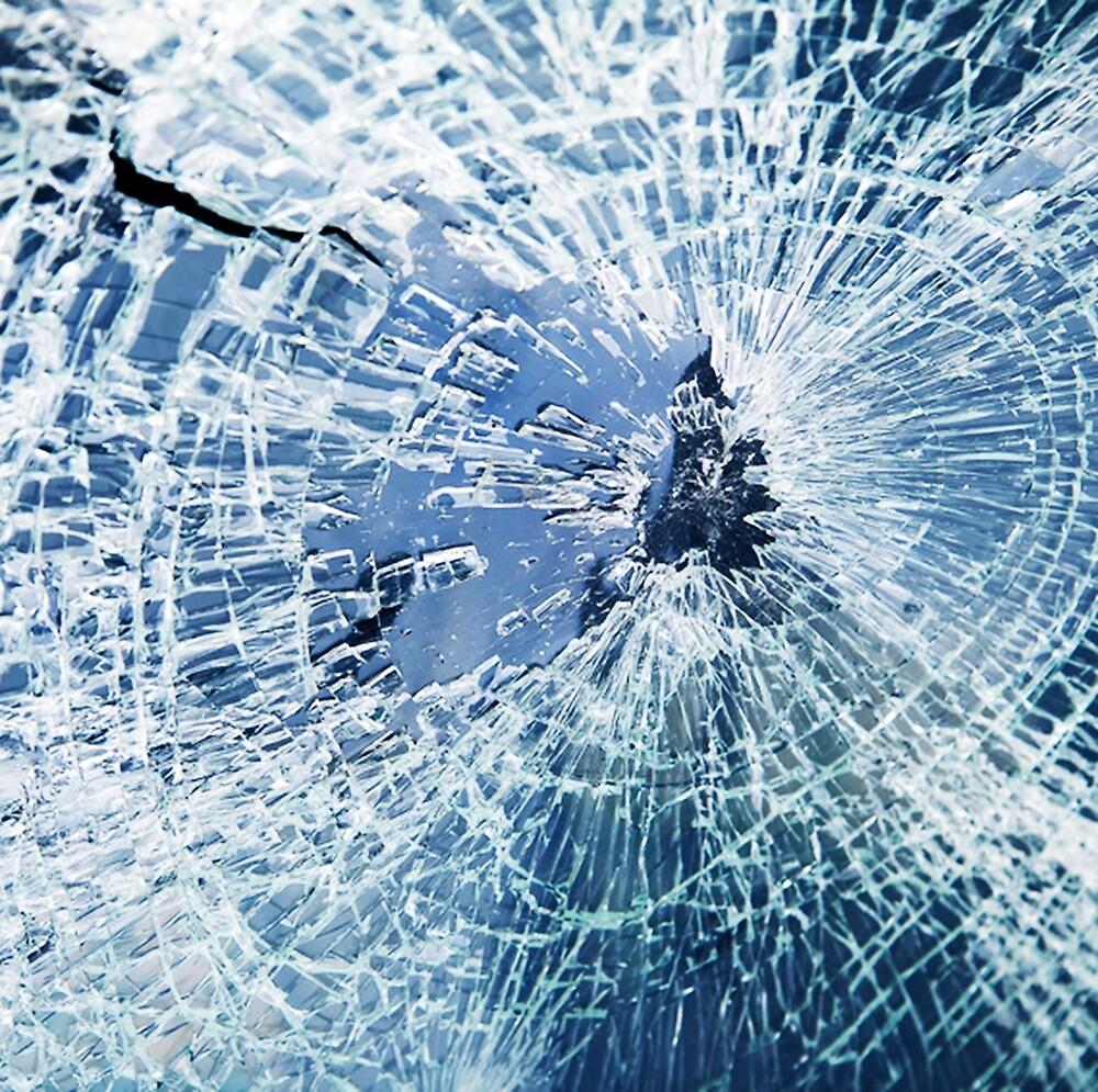 Novelty Gift, Faux Broken Shattered Glass by Melody Koert