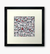 Animal, Art, Clipart, I Love Dogs Framed Print
