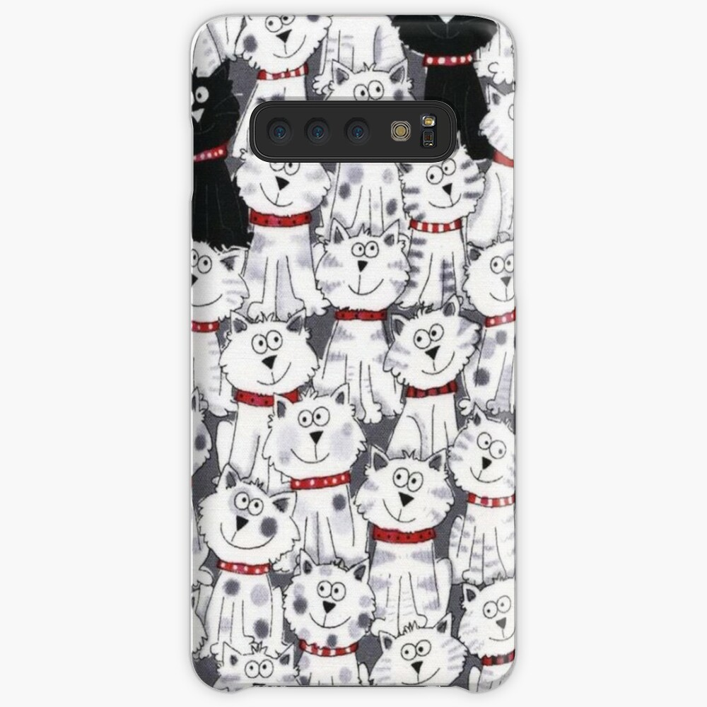 Animal Cartoon Illustrations, Cat Expressions Case & Skin for Samsung Galaxy