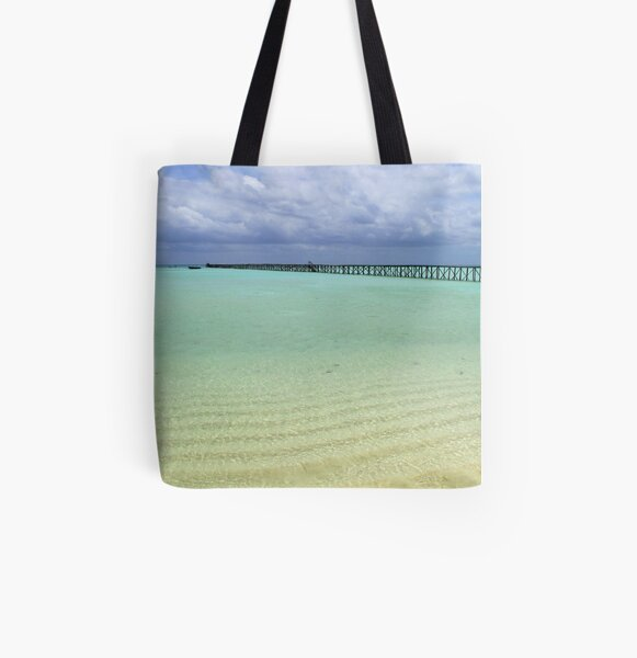 Long Dock at Cherokee Sound (2) All Over Print Tote Bag