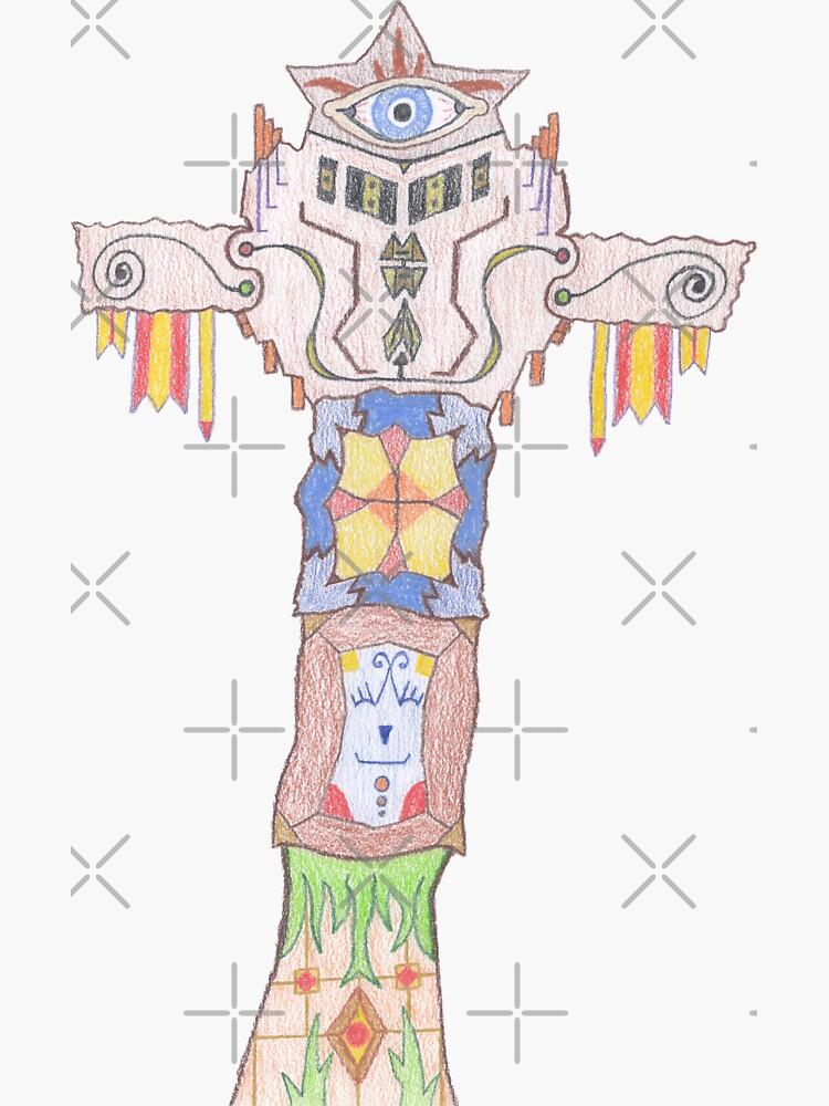 Merch #14 -- All-seeing Tassles Totem. by Naean