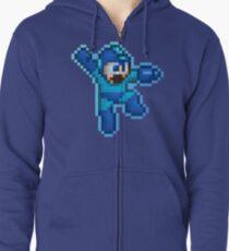 Megaman Jump Shoot Zipped Hoodie