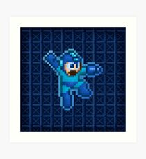 Megaman Jump Shoot Art Print