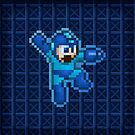 Megaman Jump Shoot by likelikes