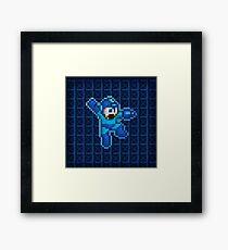 Megaman Jump Shoot Framed Print