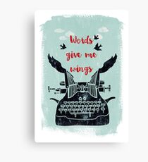 words give me wings Canvas Print